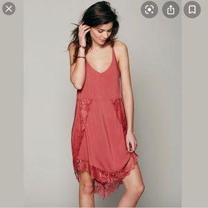 Free People Eyelashes Lace Trim dress